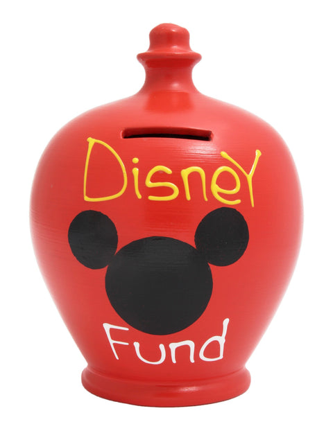Terramundi Red 'Disney Fund' Money Pot