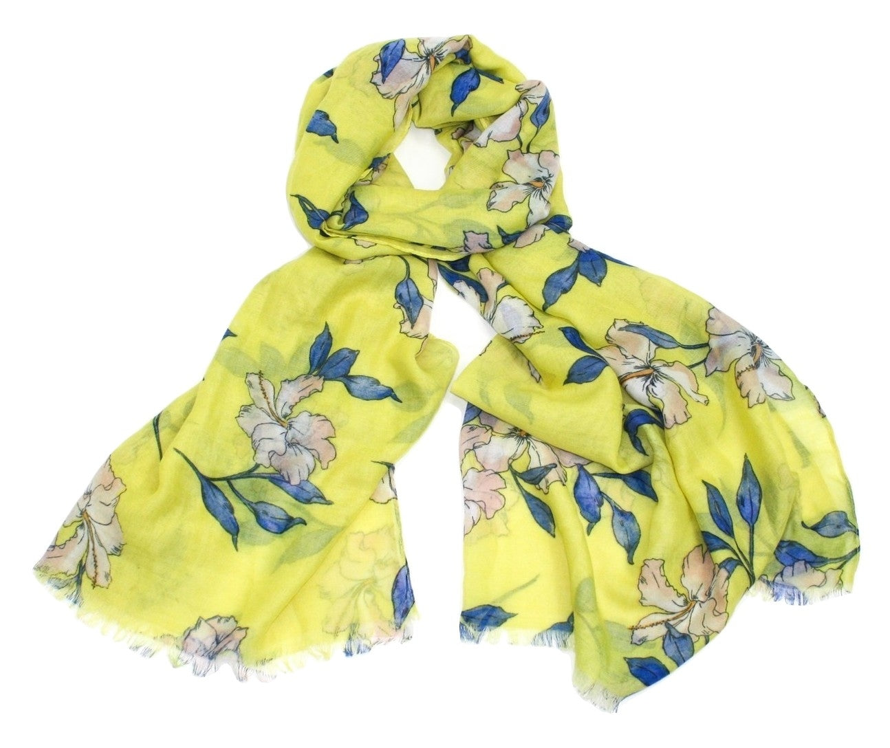Tropical Hibiscus Flower Print Scarf Blossom Lane Gifts