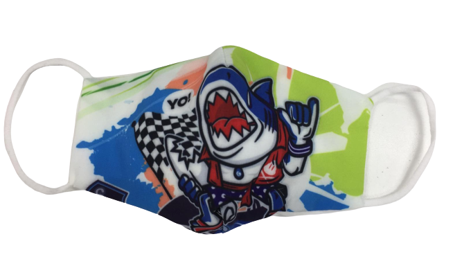 Shark Style Print Children's Non Medical Face Mask