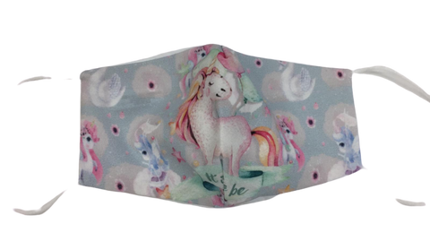 Unicorn Style Print Children's Non Medical Face Mask