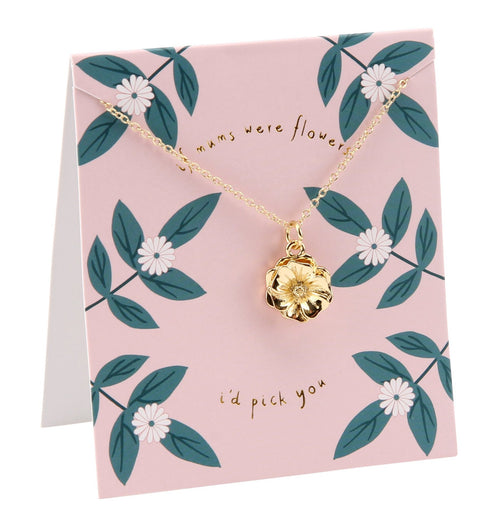 If Mum's were flowers necklace