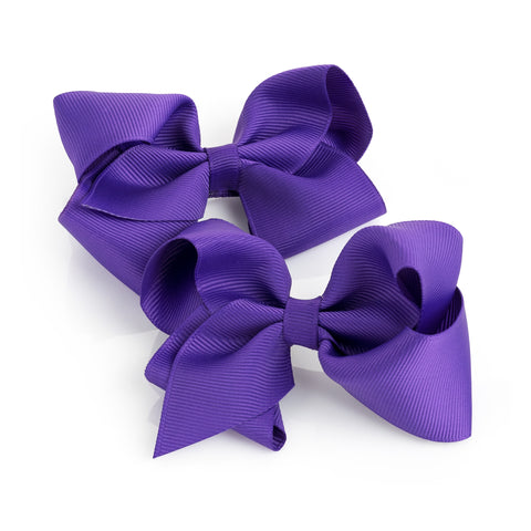Purple Bow Clips