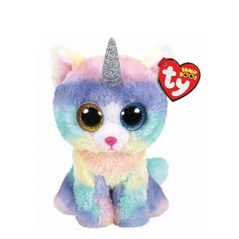 Heather Kitty Cat with Horn Beanie Boo TY