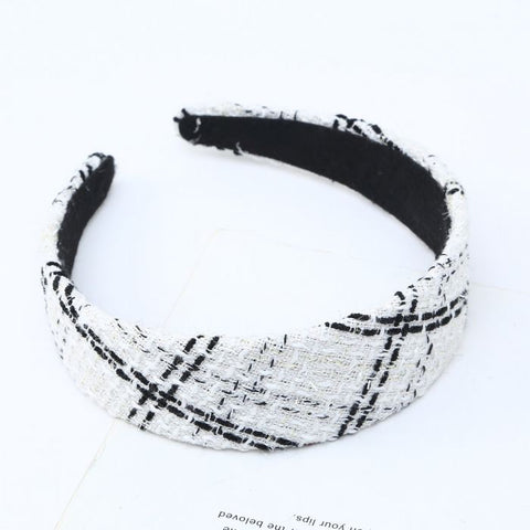 White Tweed Headband