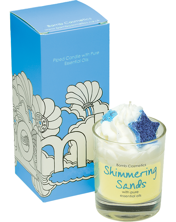Bomb Cosmetics Shimmering Sands Piped Candle