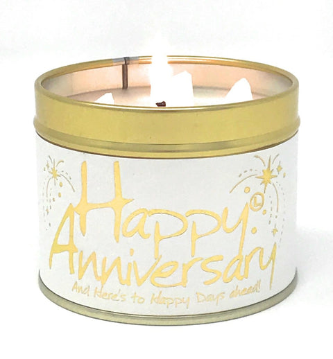Lily-Flame Happy Anniversary Birthday Scented Candle Tin