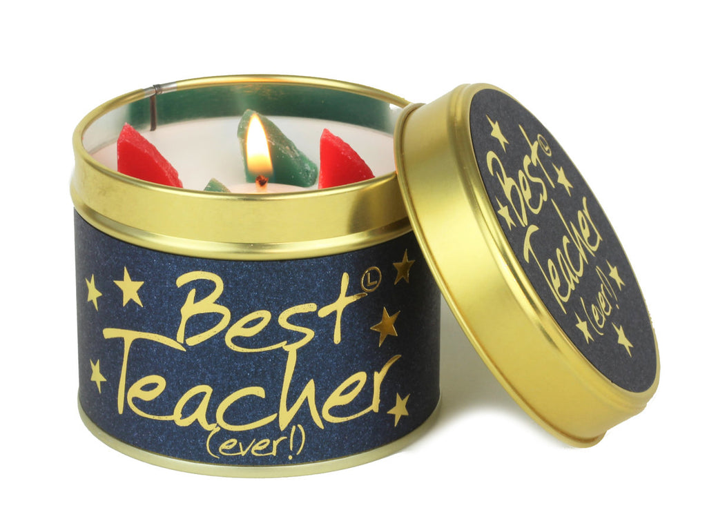 Lily-Flame Best Teacher Scented Candle Tin