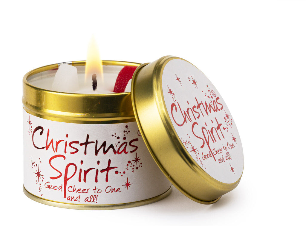 Lily-Flame Christmas Spirit Scented Candle Tin