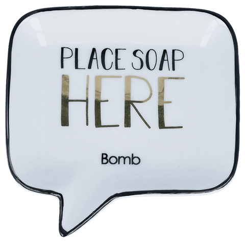 Bomb Cosmetics 'Place Soap Here' Soap Dish