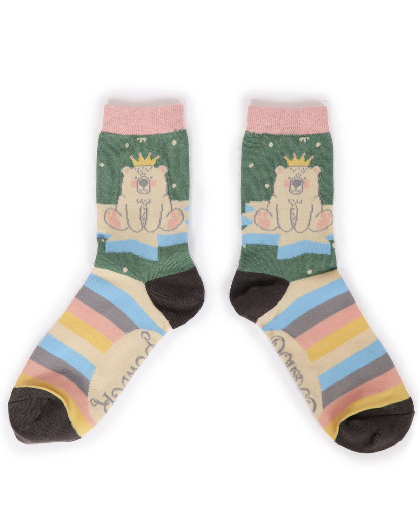 Powder King Bear Ankle Socks
