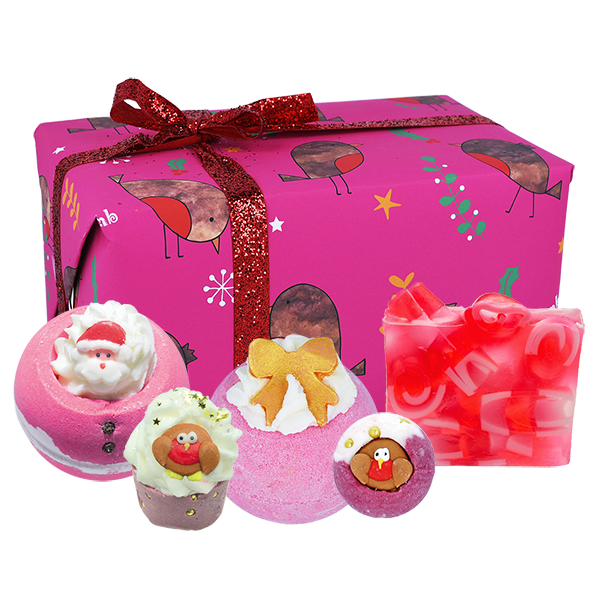 Bomb Cosmetics Robin the Red Christmas Bath Bomb Gift Set