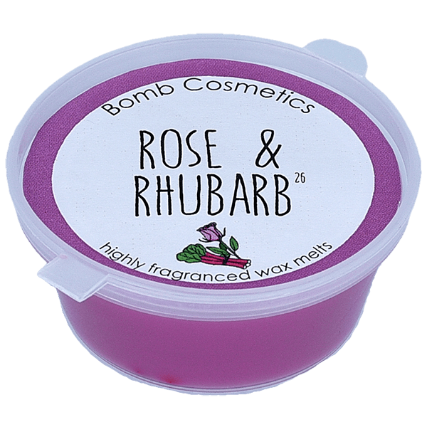 Bomb Cosmetics Rose and Rhubarb Wax Melt