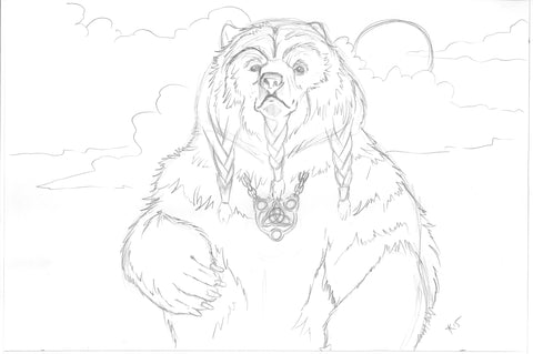 Celtic Bear Sketch