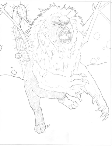 Manticore Sketch & Painting