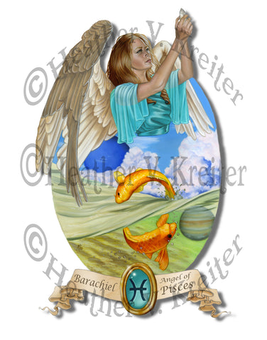 Angel of Pisces Prints