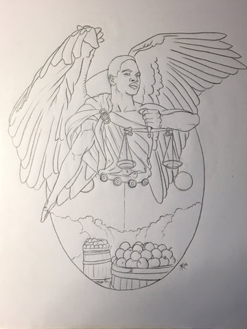Angel of Libra Sketch (Rejected)