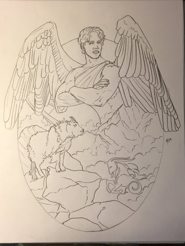 Angel of Capricorn Sketch