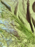 OLIVE GREEN Long Pile Faux Fur