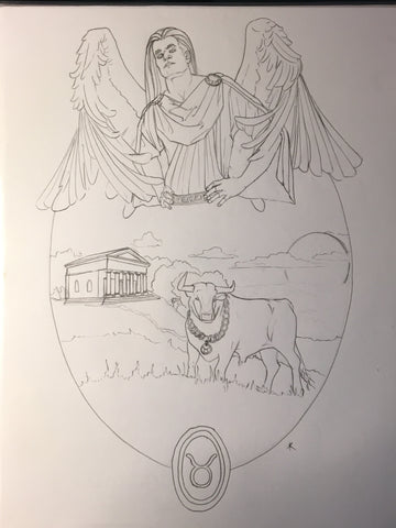Angel of Taurus Sketch