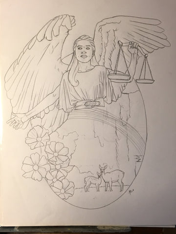 Angel of Libra Sketch