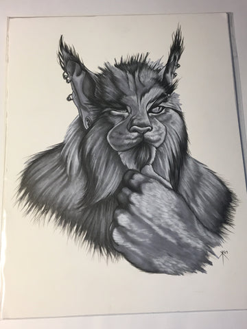 Werebobcat Drawing