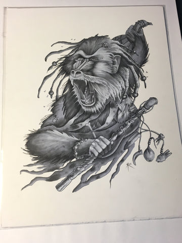 Monkey Witch Drawing
