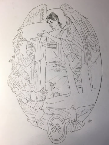 Angel of Aquarius Sketch