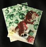 Holiday T-Rexs Greeting Cards