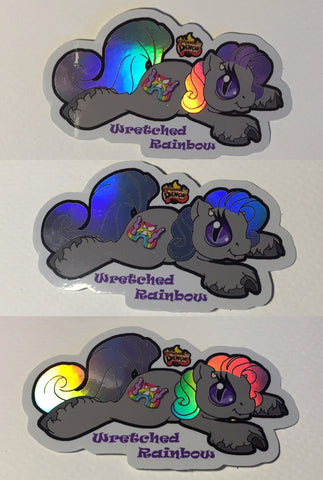 Holographic Baby Wretched Stickers