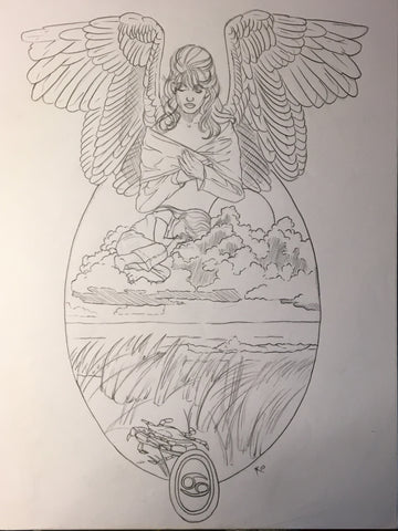 Angel of Cancer Sketch