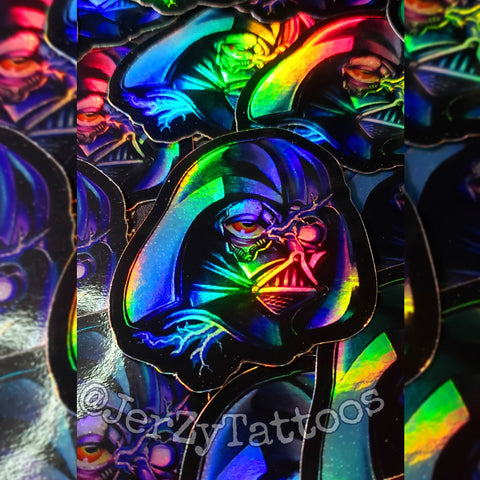 Holographic Vader Stickers 3""