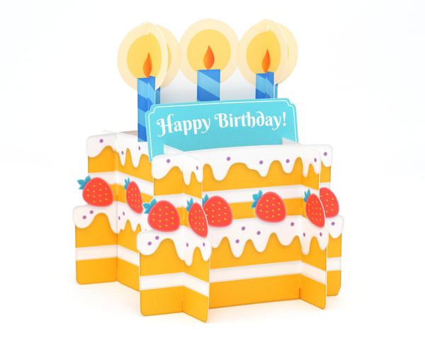 3D Birthday Cake Card