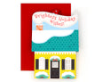 3D Holiday House Ornament Card