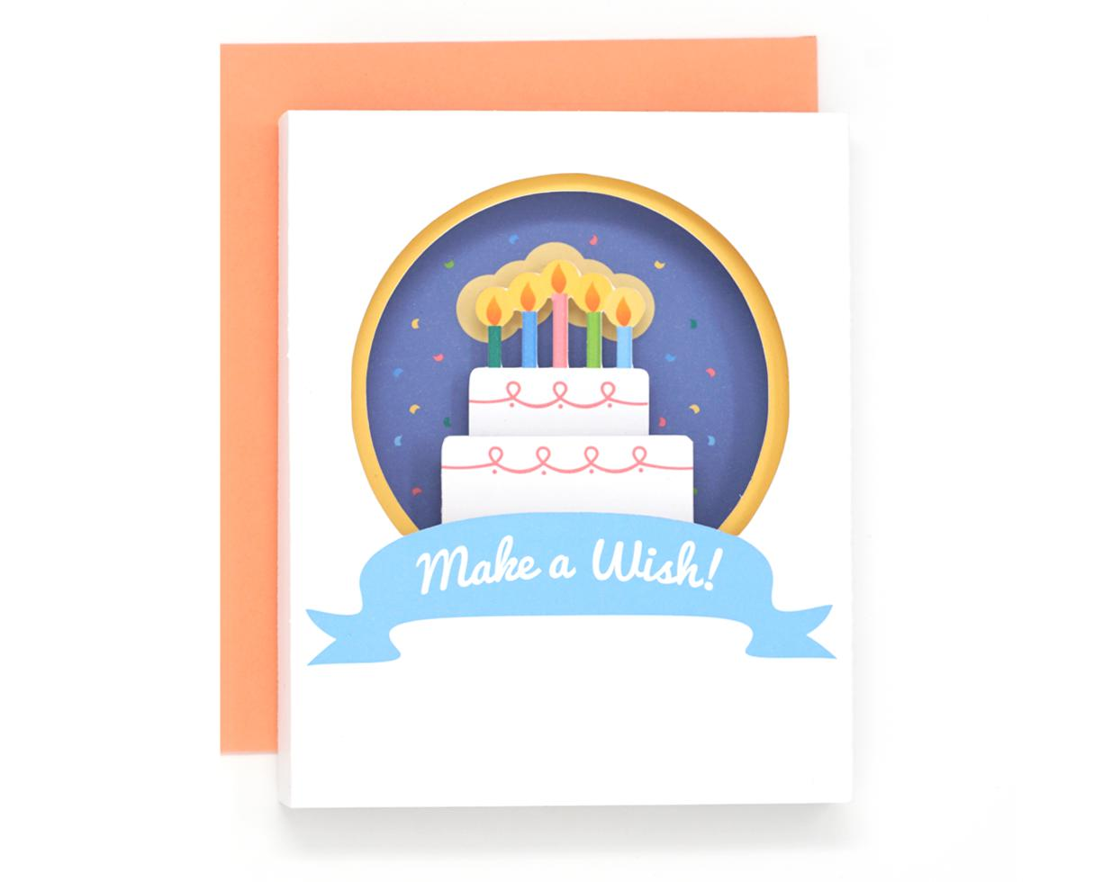 3D 'Make a Wish' Birthday Card