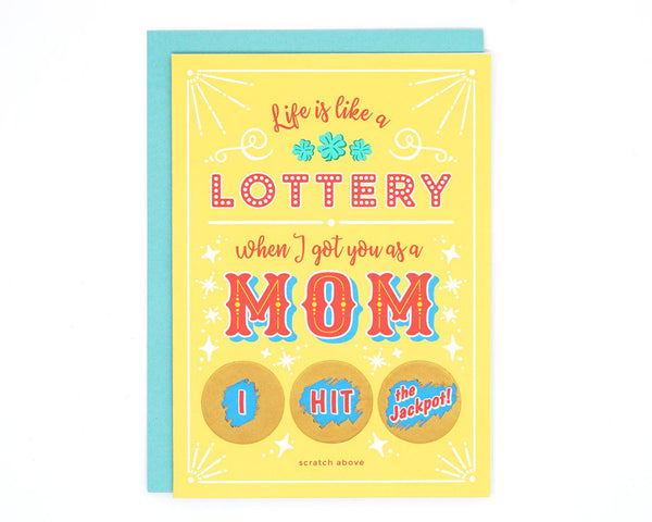 Mother's Day Lottery Scratch-off Card
