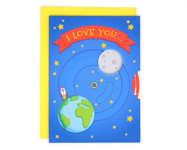 Interactive Love to Moon Card