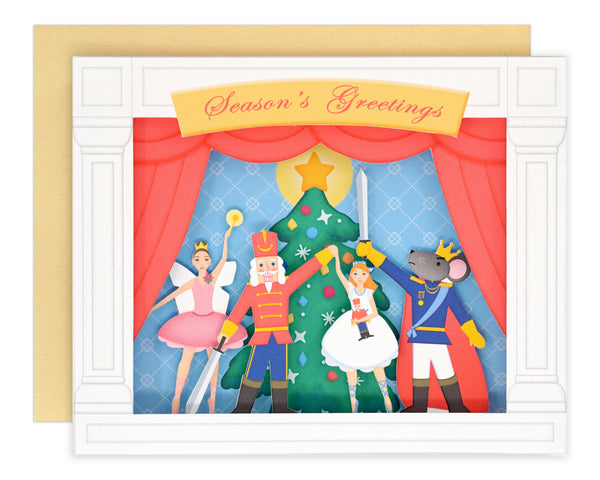3D Nutcracker Card