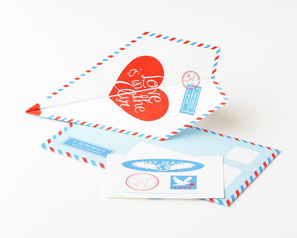 DIY Paper Airplane Card Kit