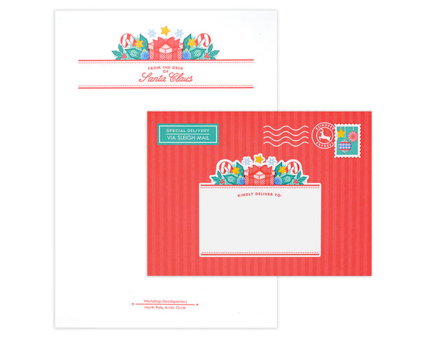 Santa Claus Letterhead Stationery Set