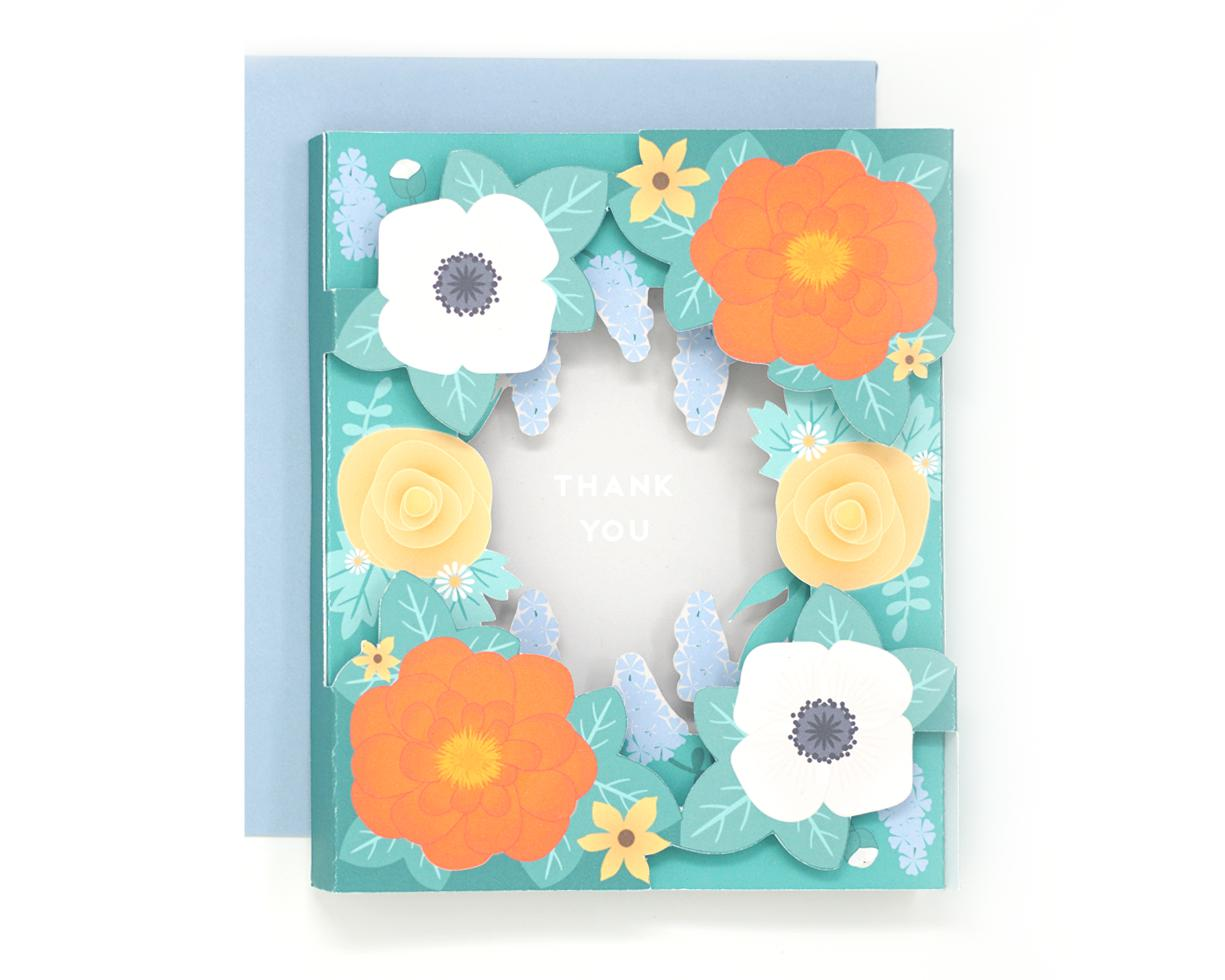 3D Floral Thank You Card