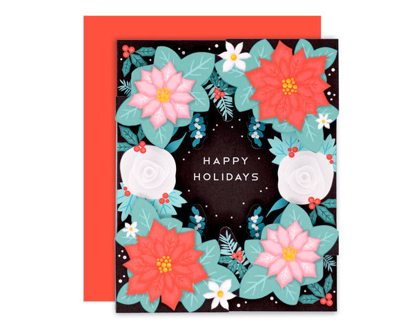 3D Floral Holiday Card