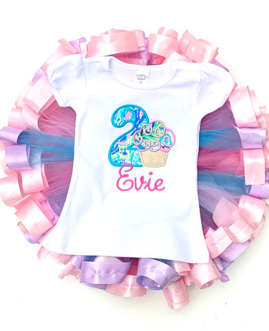 Lilly Birthday cupcake outfit