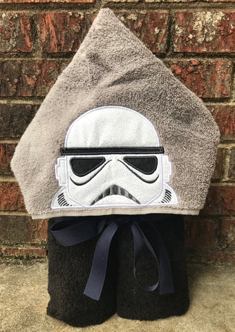 Storm trooper hooded towel