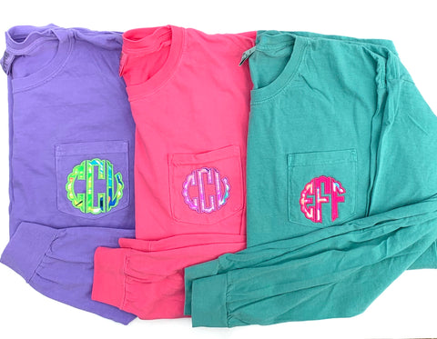Long sleeve Lilly monogram shirt
