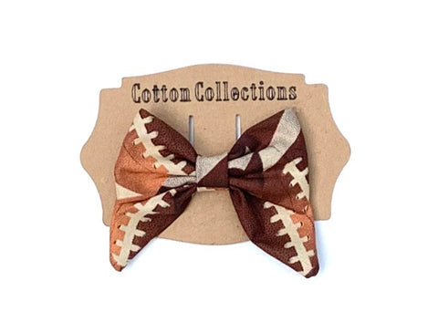 Football sailor bow, fabric bow, football bow