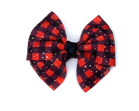 Buffalo plaid bow, Christmas bow