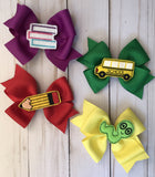 Back to school bow set