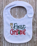 Holiday bib, Christmas bib, Thanksgiving bib, personalized bibs