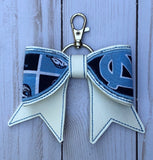 Team bow key chain