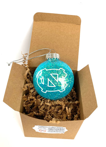 College glitter ornament